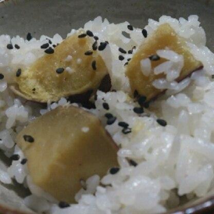 さつまいもをいただき、久しぶりに作りました☆(*^^*)チビさんもお芋大好きなのでモリモリ食べてました!