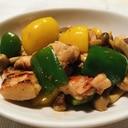 鶏モモ肉とピーマンのピリ辛炒め