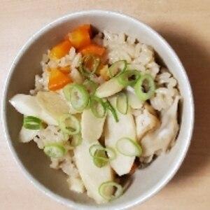 土鍋で簡単♪マコモダケの☆炊き込みご飯