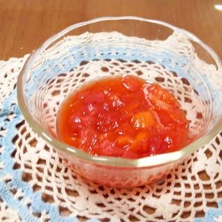 レンジでマンゴーといちごジャム