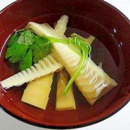 穂先タケノコのすまし汁
