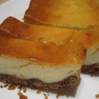 パウンド型で★ベイクドチーズケーキ