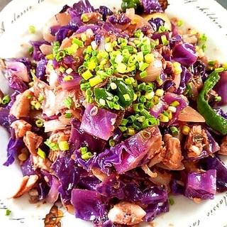 ワンパンで!ほっけと紫キャベツのちゃんちゃん焼き♪
