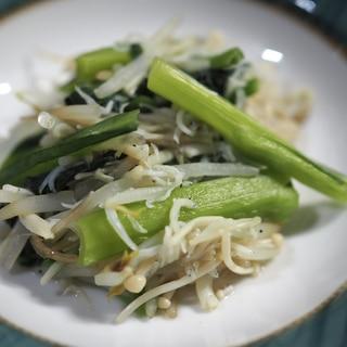 脂質控えめレシピ 油を使わない小松菜の炒め