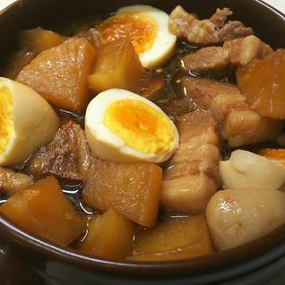 圧力鍋で豚バラ大根