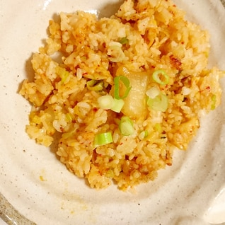 ぎょうざの満洲冷凍餃子で作るキムチチャーハン