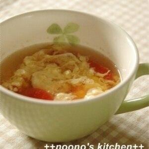 食卓に彩りを ★ トマトのかき玉スープ