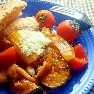 ケチャップで簡単に!ラタトゥイユ風の野菜炒め