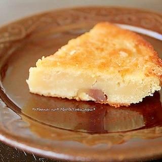 白餡と栗のケーキ