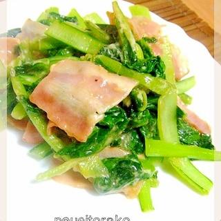 ベーコンと小松菜の炒め物