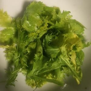 わさび菜のおひたし