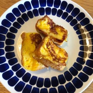 【簡単朝食】食パンフレンチトースト