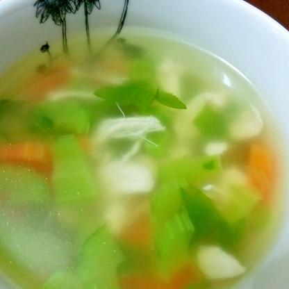 ササミとセロリのコンソメスープ