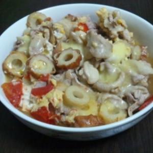 トマトと豚肉のイタリアン風丼