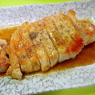 ポークソテー☆山椒醬油ソース