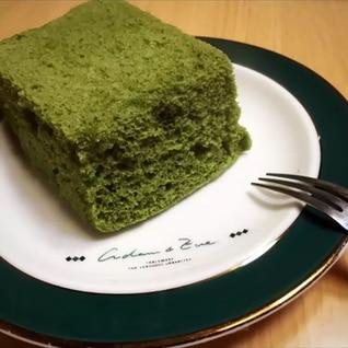 レンジで簡単 もっちり青汁ケーキ