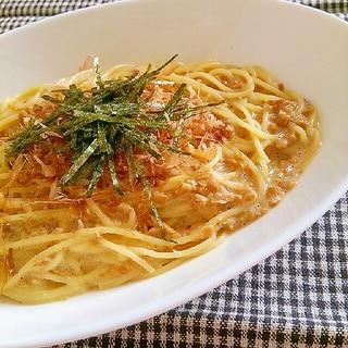 ネバトロ☆マヨたま納豆パスタ