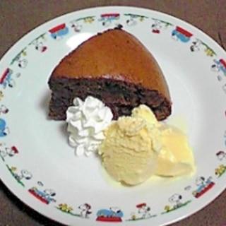 炊飯器でチョコケーキ