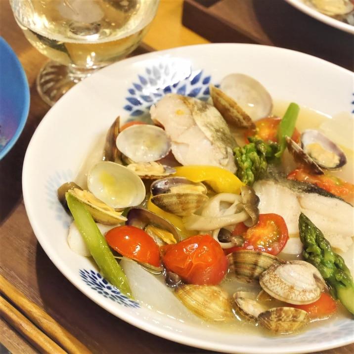 料理酒で★かんたん和風アクアパッツァ