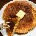 糖質オフ オートミールとアーモンドのホットケーキ
