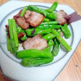 ☆塩豚レシピ☆ししとう&アスパラと塩豚の炒めもの