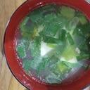豆腐とネギの中華スープ