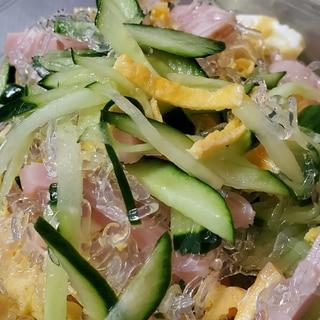 【超時短】プチプチ海草麺の春雨サラダ風