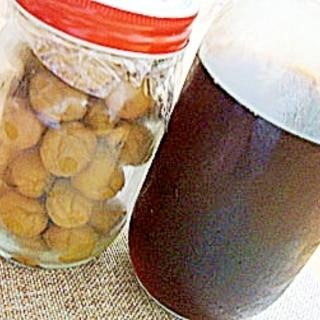 小梅の醤油漬けと梅醤油