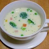 レンジで野菜たっぷり★豆乳スープ