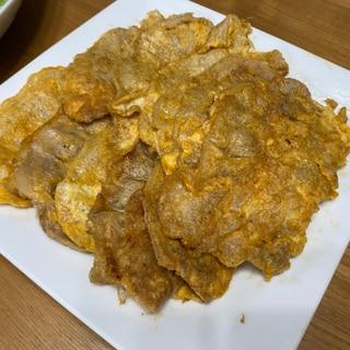 小麦粉と卵をつけて焼くだけ☆簡単豚肉のピカタ
