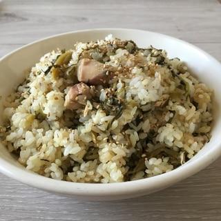 サバ缶de高菜チャーハン♪
