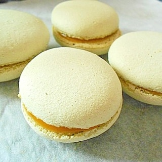 乾燥卵白でメレンゲ安定♪ グラニュー糖のマカロン