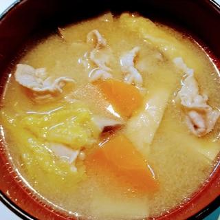 ロース肉で作るサッパリ豚汁