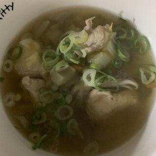 脂肪燃焼スープの具を使った味噌ニンニクチキンスープ