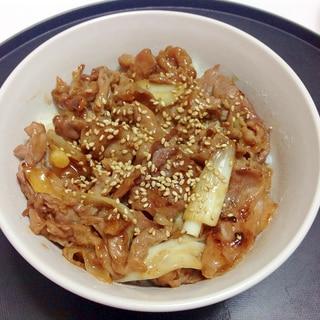 焼肉のタレde豚コマ焼肉丼
