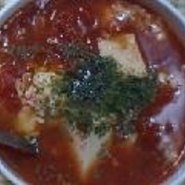 豆腐のトマトスープ
