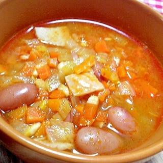 金時豆のミネストローネ風スープ