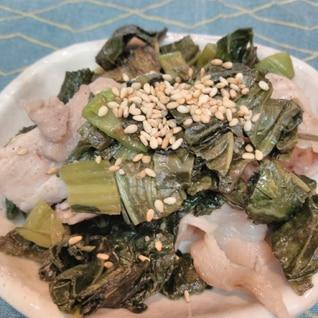 高菜と豚肉のサッと炒め