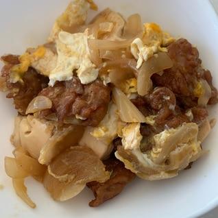 さつま揚げと豆腐の卵とじ