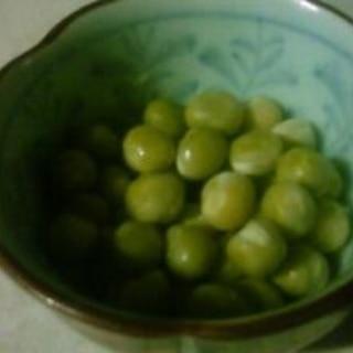 青えんどう豆の甘煮