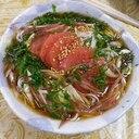 辛子明太子ぶっかけ素麺