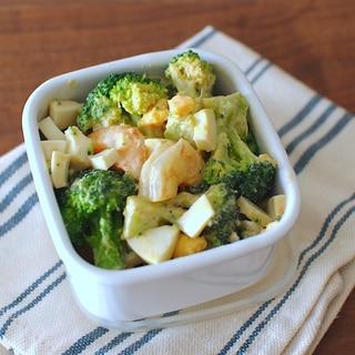 ブロッコリーとエビの簡単サラダ