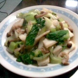 青梗菜とイカの中華炒め
