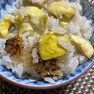 甘く ホクホク 土鍋で 栗ご飯
