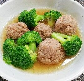 ブロッコリーと肉団子の煮物