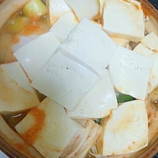簡単一人鍋☆キムチ鍋