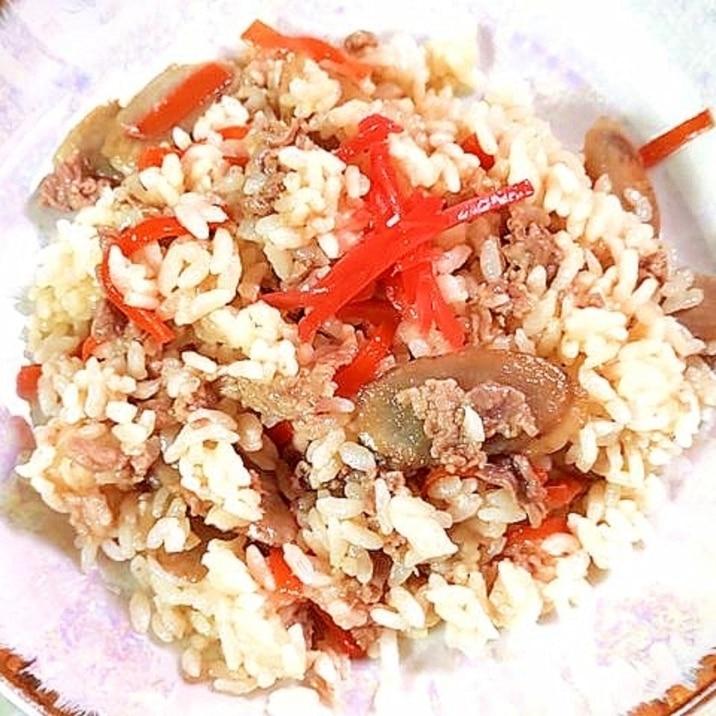 残りご飯でも作れる?豚コマとごぼうの混ぜご飯♪