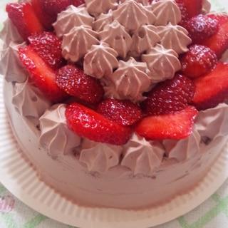 お誕生日に(^-^)  チョコレートケーキ