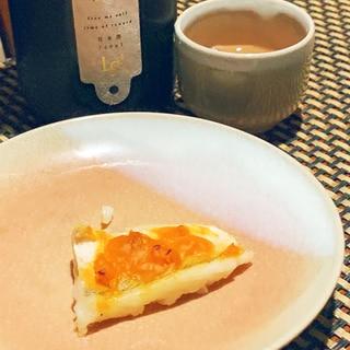 日本酒にワインに、甘鯛の粒うに焼き