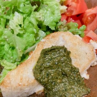 バジルソースで食べる♡カジキマグロのソテー